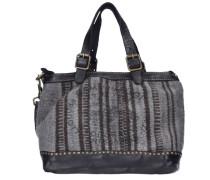 Ortica Handtasche Leder 24 cm schwarz