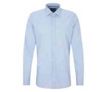 Gemustertes Stretch-Hemd blau