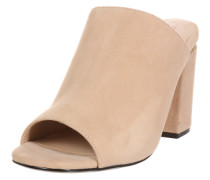 Leder-Sandalette nude