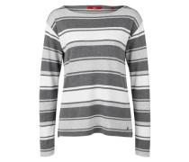 Langarmshirt mit Jacquard-Muster grau