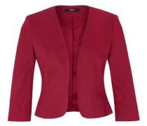 Modischer Blazer aus Baumwollsatin rubinrot