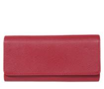 Portemonnaie 'Saffiano' rot