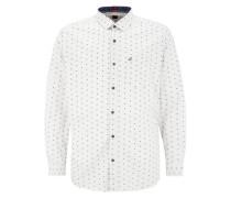 Regular: Leichtes Twill-Hemd weiß