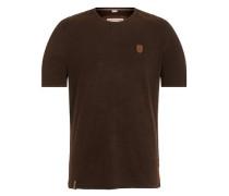 T-Shirt 'In der Genitalunion' schwarz