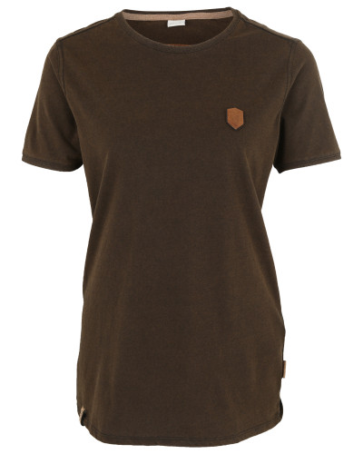 T-Shirt 'Halim Trabando' dunkelbraun
