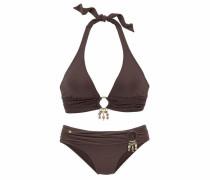 Triangel-Bikini braun