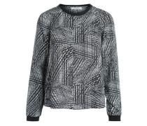 Langärmelige Bluse schwarz / weiß