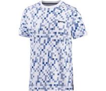 T-Shirt Herren blau / weiß
