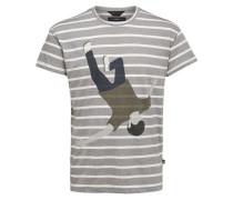 Rundhalsausschnitt-T-Shirt grau