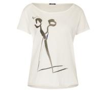 T-Shirt mit Print 'ciseaux Lwc' schwarz / weiß