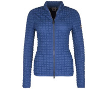 Steppjacke mit Stretch blau