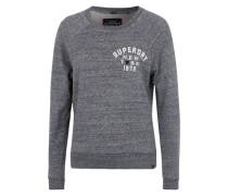 Sweatshirt mit Labelstickerei grau