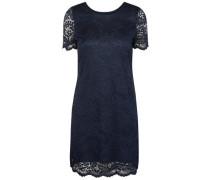 Kleid mit kurzen Ärmeln Spitzen- blau