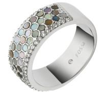 Ring mit Perlmutt und Glassteinen »Vintage Glitz Jf02313040« silber