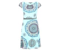 Kleid mit Gürtel hellblau