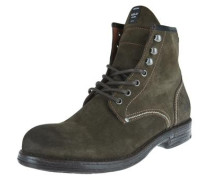 Lederboots in robustem Design oliv