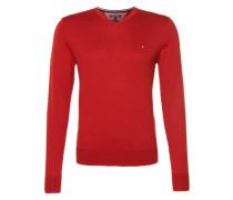 Pullover mit Seiden-Anteil rot