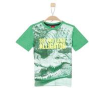 T-Shirt mit Foto-Print neongelb / grün