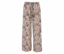 Weite Hose beige / pink
