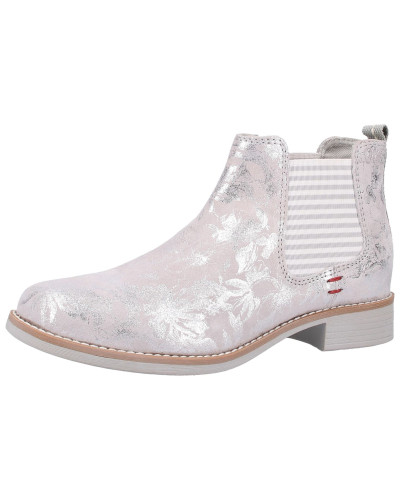 Stiefelette puder / silber