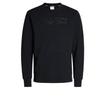 Rundhalsausschnitt-Sweatshirt schwarz