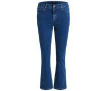 Ausgestellte 7/8-Jeans blau