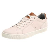 Schlichter Sneaker creme / rosa