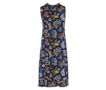 Kleid mit Blumenmuster mischfarben / schwarz