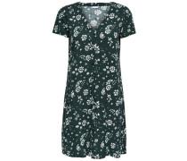 Detailreiches Kleid mit kurzen Ärmeln grün