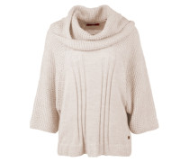 Dicker Poncho mit Mohair-Anteil pink