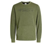 Rundhalsausschnitt-Sweatshirt oliv