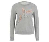 Sweater 'NMFly' graumeliert / mint / koralle