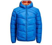 Trendige Wattierte Jacke royalblau
