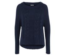 Pullover mit Zopfmuster dunkelblau