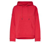 Einfarbiger Hoodie rot