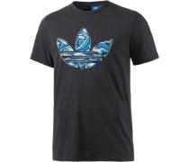 Printshirt Herren blau / schwarz