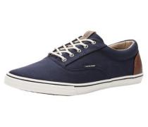 Leinen-Sneaker nachtblau / pueblo / weiß