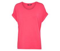 Lässiges T-Shirt pink