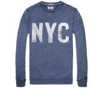 Sweatshirt 'thdm Basic CN Hknit L/S 7' blau
