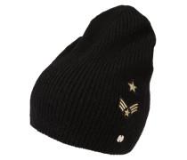Mütze mit Patches gold / schwarz