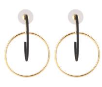 Die Ohrringe 'Sascha' gold / schwarz