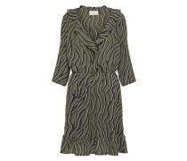 Kleid 'Barbel' khaki / schwarz