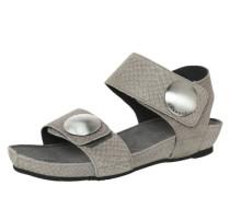 Sandale in Reptilleder-Optik grau