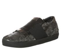 Sneaker mit Paillettenbesatz grau