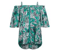 Bluse 'Mojito' grün / schwarz / weiß