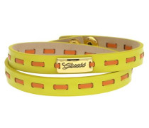 Wickelarmband Leder Gelb/Orange Ubb21308 limone