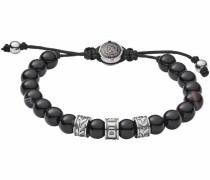 Armband schwarz / silbergrau