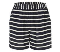 Jersey-Shorts 'Vibecca' nachtblau / weiß