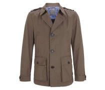Jacke im Trenchcoat-Stil braun