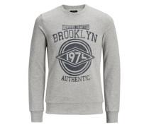 Print-Sweatshirt grau / dunkelgrau